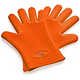 I K Silicone Heat Resistant Oven Mitts Barbecue Gloves for Cooking Baking Potholder Non-Slip