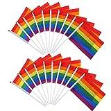 Xhuan 20Piezas Bandera LGBT Bandera Gay Bandera Paz LGBT Bandera del Bandera para Fiesta del Carnaval Joy Ting Charde