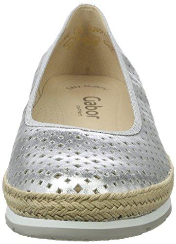 Gabor Damen Comfort Geschlossene Ballerinas Silber (silber (Jute) 10)