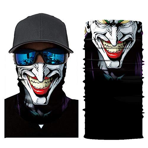 Wokee Multifunktionstuch Gesichtsmaske Radfahren Motorrad Neck Tube Ski Schal Gesichtsmaske Balaclava Halloween Party Motorradmaske Sturmmaske Maske für Motorrad Ski (C)