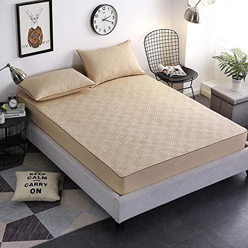 GUANLIDE spannbettlaken für hohe matratzen,Baumwolle einfarbig Bettlaken, Spannbetttuch elastisch, Matratzenbezug Bett, Bettwäsche Bettdecke Twin Full Queen King Size @ Camel_180x220cm