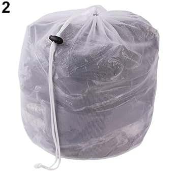 sacs linge filet de lavage sacs pour machine laver blanc 1 pc priams 7 m blanc. Black Bedroom Furniture Sets. Home Design Ideas