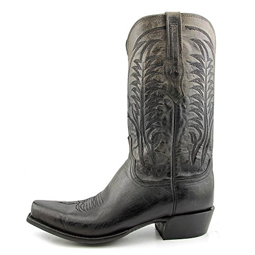 Lucchese Montgomery Cuir Santiags Anthracite Grey