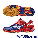MIZUNO WAVE TWISTER 4 INDOOR COURT SHOES -BLUE/WHITE /RED (UK6(US7))