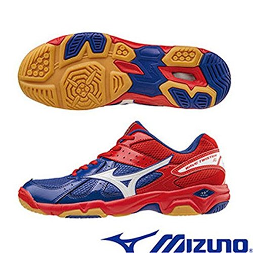 Mizuno Wave Twister 4 Indoor Court Shoes -Blue/White /Red