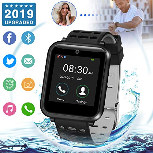 Smartwatch,bluetooth smart watch con camera orologio intelligente orologio cellulare impermeabile con sim card slot per android huawei samsung xiaomi ios x xs xr 8 7 6 5s plus s9 s8 s7