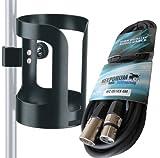 K&M 16022 Universal Getränkehalter + KEEPDRUM Mikrofonkabel 6m XLR MC-001XX-6M