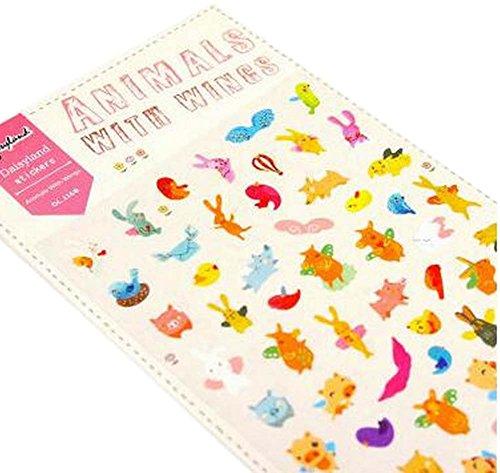 [Nettes Tier] 5 Blätter Dekorative Aufkleber Handwerk Aufkleber Für Einklebebuch