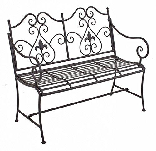 Garden Pleasure Gartenbank, gerade Sitzfläche mit Armlehnen und Verzierungen