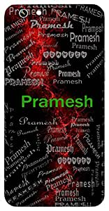 Pramesh (Master Of Accurate Knowledge) Name & Sign Printed All over customize & Personalized!! Protective back cover for your Smart Phone : Moto E-3 (3rd Gen)