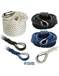 Cuerda de amarre, gespleißte, alta resistencia. Disponible en diferentes tamaños y colores, azul
