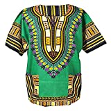 Lofbaz Unisex Dashiki Stampa Tradizionale Africana Hippy Boho XL Green
