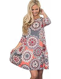 c0685f0d4649cf TUDUZ Frauen Sommer Vintage Boho Maxi Abend Party Kleid Elegant Strand  Große Größen Blumenkleid