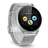 Excelvan K88H Montre Connectée Smartwatch Montre Intelligente Bluetooth V4.0 Podomètre Moniteur de Fréquence Cardiaque Sleep Monitor Call   SMS Reminder Argenté