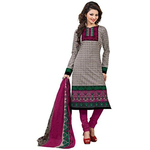 Rajnandini Women Ethnic Wear Multi Colour pure cotton Printed Unstitched salwar suit...
