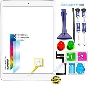 O.E.M? Komplett Touchscreen Glas Digitizer für iPad Air / iPad 5 Display, Komplett mit Flexkabel, Homebutton - WEIß inkl. Best NANO Profi 8-in-1 Werkzeugset - WEIß WHITE - NEU