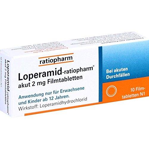 Loperamid-ratiopharm akut, 10 St. Filmtabletten