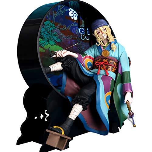 JSFQ Seltsame Katze Anime Modell Hibiskus Ornamente Japanischen Kimono Dekoration