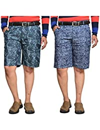 British Terminal Multi Colour Fancy Print Slim Fit Men's Cotton Shorts(Bermuda) Combo-pack Of 2 - B06X9KTBDH