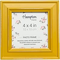 Hampton Marcos Paloma Cuadrado Marco de Fotos, Madera, Amarillo Mostaza, 14,5