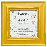 Hampton Frames Paloma quadratisch Bilderrahmen, Holz,, senf gelb, 14,5x 14,5x 2,5cm