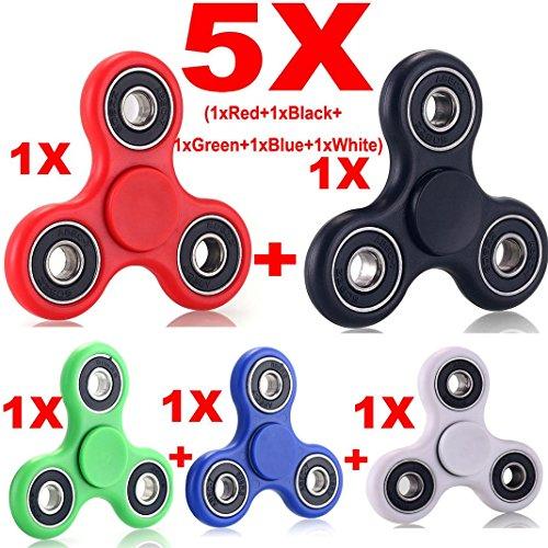 Preisvergleich Produktbild Hand Spinner Tri Fidget Spinner Keramik Gyro Spielen Spielzeug Kinder / Erwachsene 5 PACK