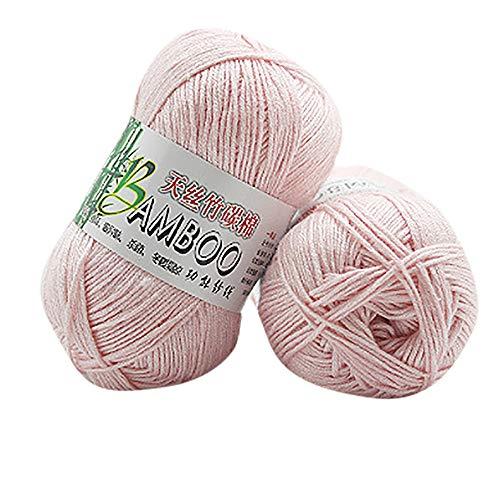 Blau Stricken Hut-set (FeiliandaJJ 1pcs 50g Wolle Zum Stricken & Häkeln Handstrickgarn,30% Baumwolle + 70% Bambusfaser,0.047 Zoll (1.2 mm),Bambus Baumwollgarn Perfekt für Hüte Pullover Schal - 10 Farben (B))