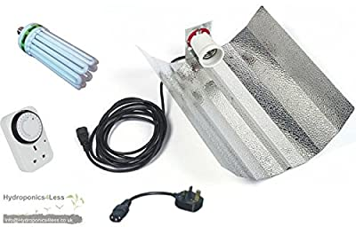 CFL 125w 150w 250w Hydroponic Tent Grow Light Kit Euro Reflector System Timer