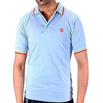 Raiken Twin Tipped Polo Shirts Mens-Skyblue-S