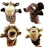 Caleson Zoo Friends Handpuppen (4er Set) - Elefant, Giraffe, Löwe und Affe...