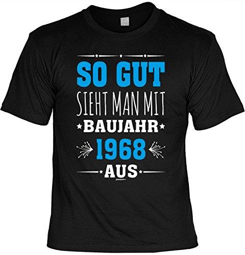 trag-das tolles T-Shirt zum 50. Geburtstag - Leiberl Papa Geschenk zum 50 Geburtstag 50 Jahre Geburtstagsgeschenk 50-jähriger So gut sieht man mit Baujahr 1968 aus Gr: XXL (Geburtstag Mann, T-shirt)