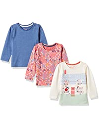 Mothercare Baby Girls' T-Shirt (Pack of 3)