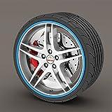 Mini Cooper S Blue Rimblades Alloy Wheel Edge Ring Rim Protectors Tyres Tire Guard Rubber Moulding