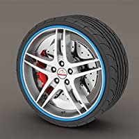 BMW Z Series Blue Rimblades Alloy Wheel Edge Ring Rim Protectors Tyres Tire Guard Rubber Moulding