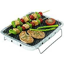 Rayen AB126 - Barbecue monouso con carbonella, 4,5 x 24 x 31 cm, colore: Grigio
