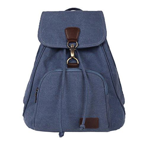 Casual Vintage Laptop Rucksack Für Männer Frauen Leinwand Computer Daypack Tasche Junge Schule Große Kapazität Rucksack Reise Rucksack Blue