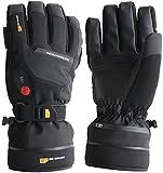 30seven Beheizbare Ski-Handschuhe | Snowboard-Handschuhe mit Protektoren | Wasserdichte Motorrad-Handschuhe | Handschuhe Winter Herren und Damen | Schwarz