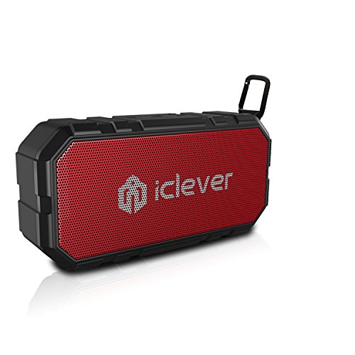 Altoparlante Bluetooth Impermeabile, iClever Speaker Portatile Senza Fili(IP65, Tempo di Riproduzione di 12 Ore) per Esterni, Doccia  per iPhone, iPad, Samsung, Huawei, Honor, Nexus, Laptop e Altri