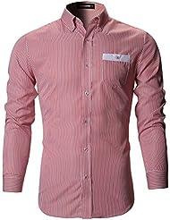 FLATSEVEN Camisas De Vestir Slim Fit Clásico Hombre