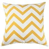 Kissen Standard Größe, caseshell® erhöhte mit Baumwolle Kissenbezug pillowslip für Sofa 45,7x 45,7cm–Gelb