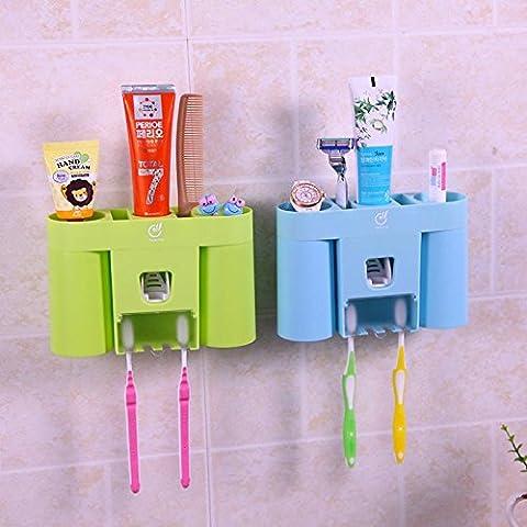 Creative Farniente Simplicité automatique de dentifrice support mural pour brosse à dents Définit multifonctionnel Accessoires de salle de bain