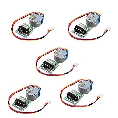 Super44day 5 Stücke 4 Phasen 5v Schrittmotorbrett Treiberplatine Modul ULN2003 für Arduino