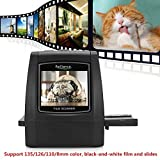 TEN-G Film Scanner with 22MP, Scanner Converts Slides Negatives Into Digital Photos-2.4' LCD Screen with Impressive 128MB Built-in Memory 135mm/126mm/110mm/8mm High-Resolution Negative Film (32GB)