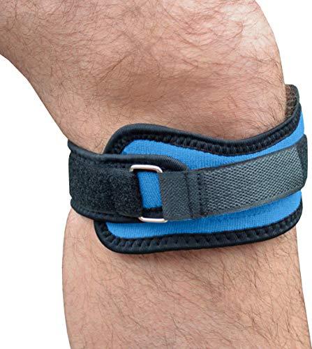 GreatIdeas Kniebandage, Kniescheibe, mit 4 leistungsstarken Magneten zur Schmerzlinderung (2 x Stützen), Blau