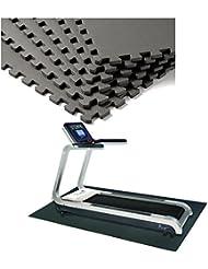 COSTWAY 12 Stück Schutzmatten Set Bodenschutzmatte Puzzlematte Unterlegmatte Fitnessmatte Gymnastikmatte Matte für Bodenschutz Farbwahl