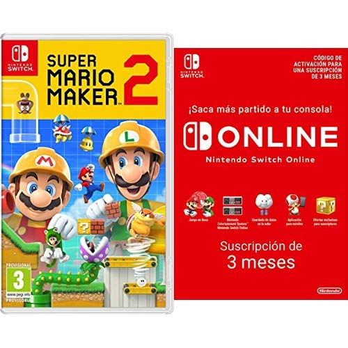 Super Mario Maker 2 [Nintendo Switch] + Switch Online 3 Meses [Codice Download]