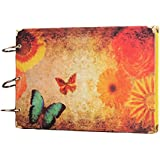 10 pulgadas de álbum de recortes de fotos de la mariposa Pegar retro DIY Album de fotos regalo