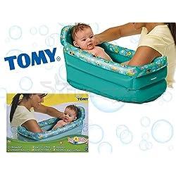 FiNeWaY @ nuevo modelo Tomy hinchable infantil niños de bebé suave bañera bebé viaje portátil con suave protección Premium calidad fácil de almacenamiento