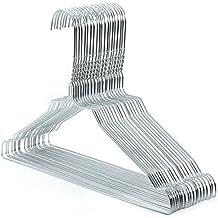 Hangerworld - Perchas De Metal Con Muescas Para Niños, 33 cm , Color Plateado, 50 Unidades