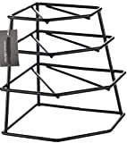 CookSpace ® Corner 4 Tier Heavy Duty Black Plate Holder Stand / Plate Storage Rack, Space Saver